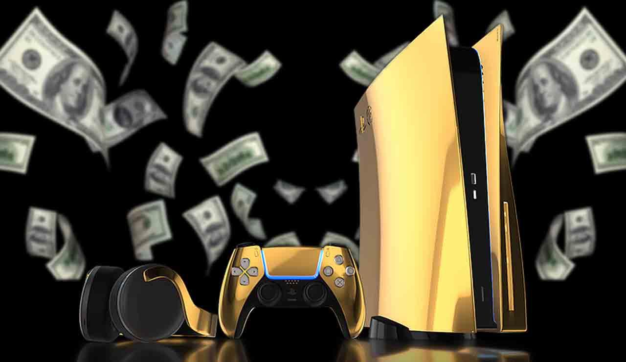 playstation 5 de oro