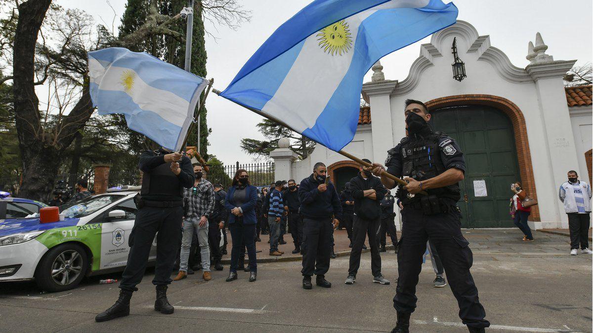 Tercer dia de protestas salariales de la Policia Bonaerense