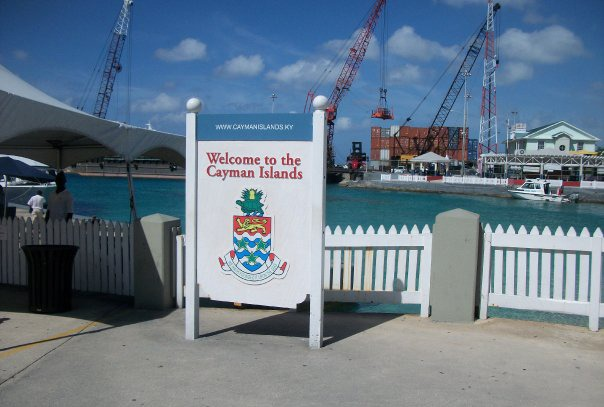 grand cayman port sign