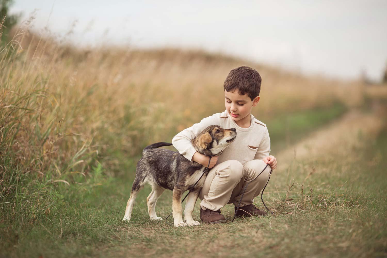 perros y ninos