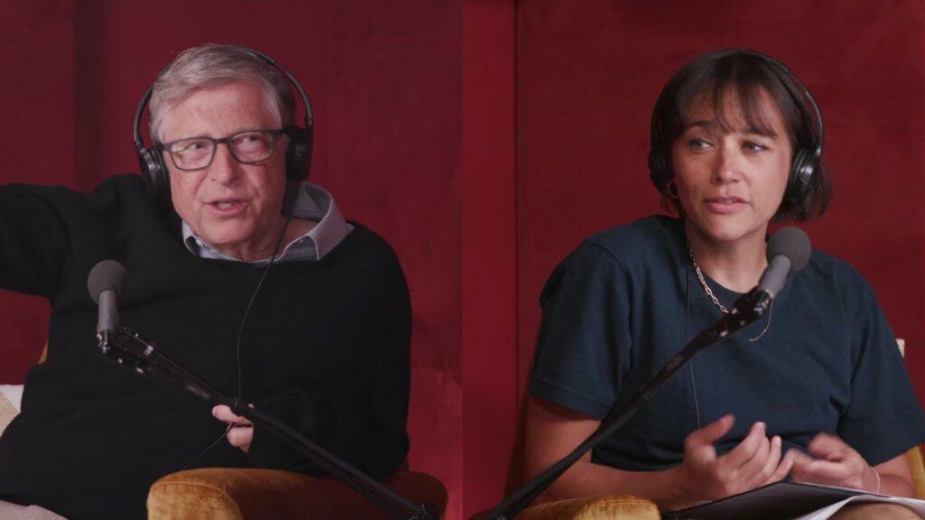 Bill Gates Rashida Jones podcast 451018