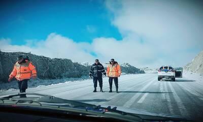 camino de las altas cumbres nieve nevada helada hielo cordoba sierras 1